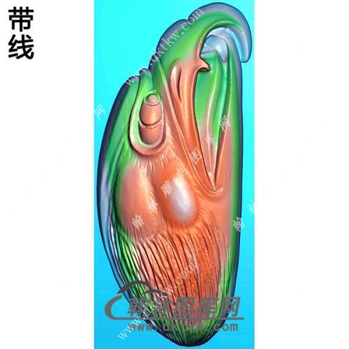 玉雕随形老鹰头挂件精雕图(GJY-075)