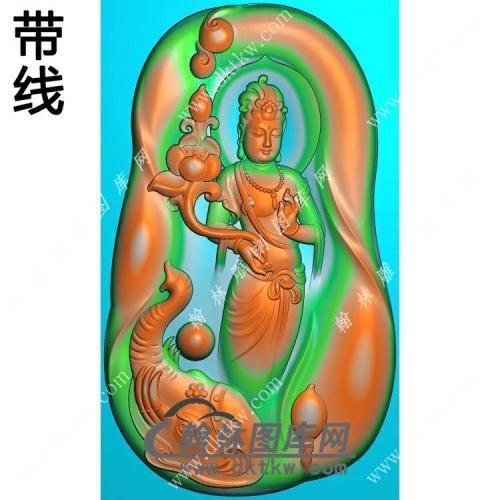 玉雕随形凹底象头手持莲花坐莲普贤菩萨挂件带线精雕图(PXF-231)