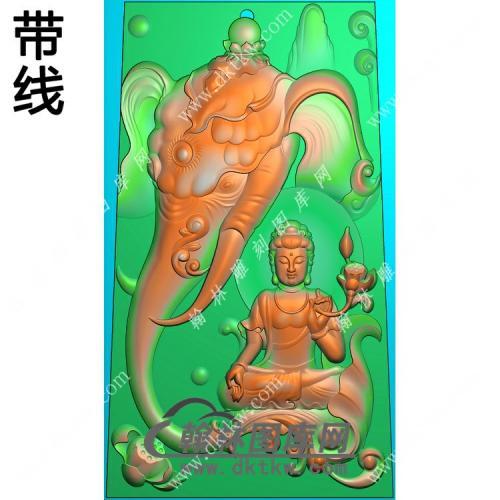 玉雕梯形象头莲花手持莲花普贤菩萨挂件带线精雕图(PXF-139)