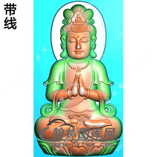 玉雕双手合十坐莲观音挂件带线精雕图(LGY-137)
