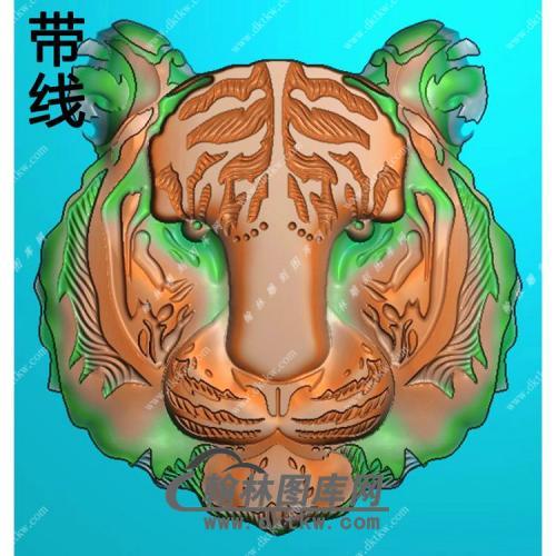 老虎头挂件带线精雕图(GH-112)
