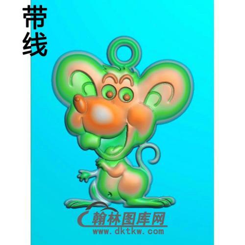 卡通老鼠挂件带线精雕图(GS-012)