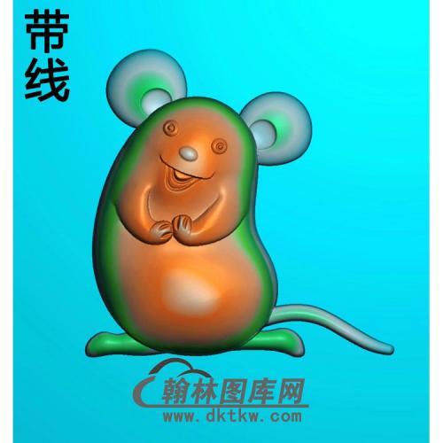 卡通生肖鼠带线精雕图(GS-025)