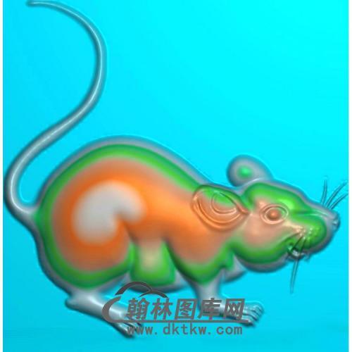 玉雕老鼠挂件精雕图(GS-035)