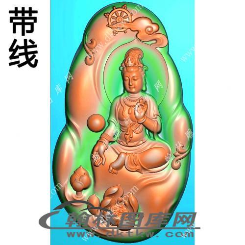手捏佛珠自在坐观音挂件带线精雕图(LGY-198)