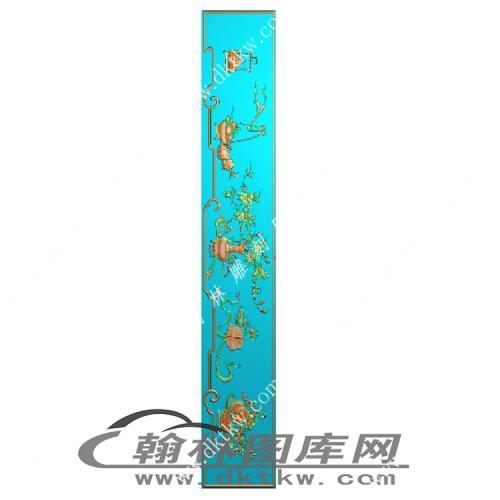 花鸟顶箱柜牙板精雕图(MM-045)