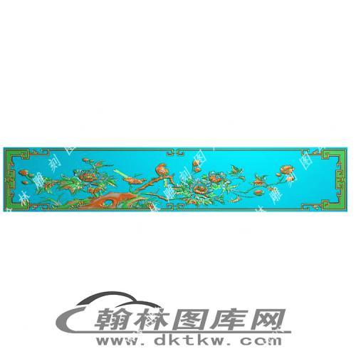 牡丹顶箱柜仓板精雕图(MM-033)