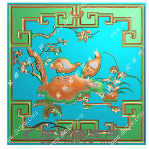 鸟顶箱柜精雕图(MM-028)