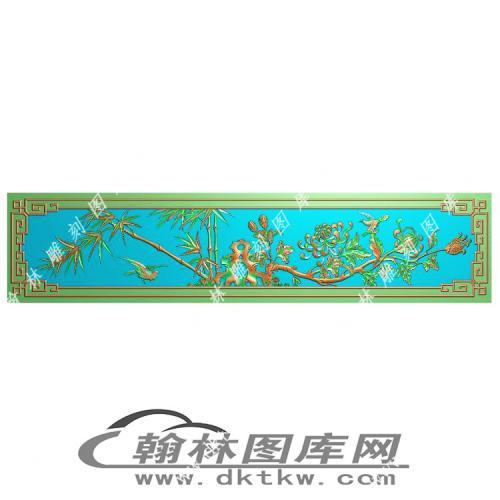 下花板菊竹精雕图(MM-048)