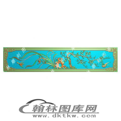 下花板梅兰精雕图(MM-049)