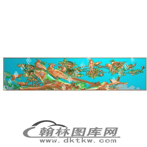 景上花底板精雕图(MM-026)