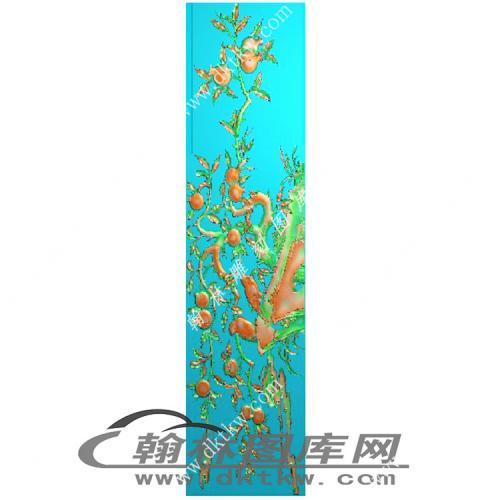 石榴仓板精雕图(MM-011)