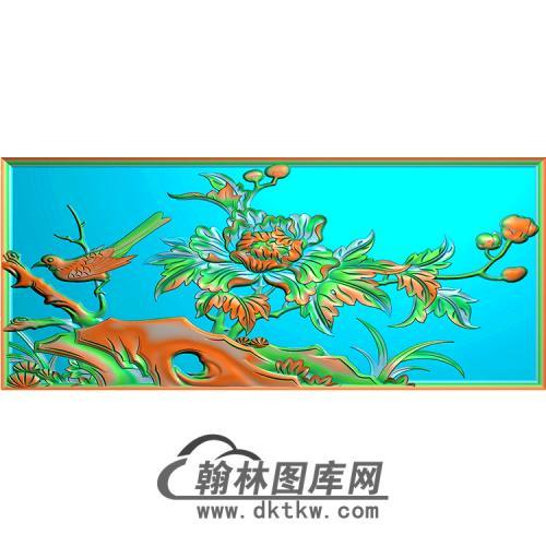 牡丹鸟无线碑板精雕图(MBBB-1593)