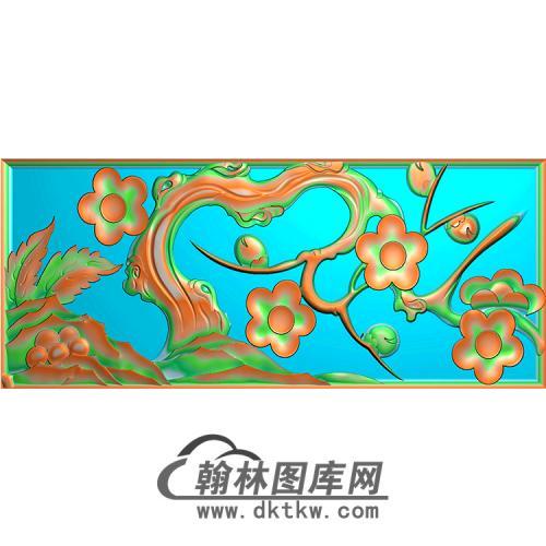 梅花无线碑板精雕图(MBBB-1599)