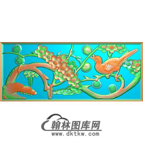 梅花无线碑板精雕图(MBBB-1636)