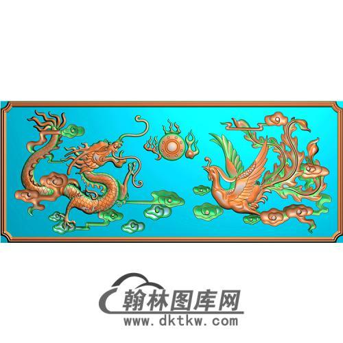 龙凤无线碑板精雕图(MBBB-1663)