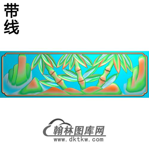 竹子碑板精雕图(MBBB-1881)