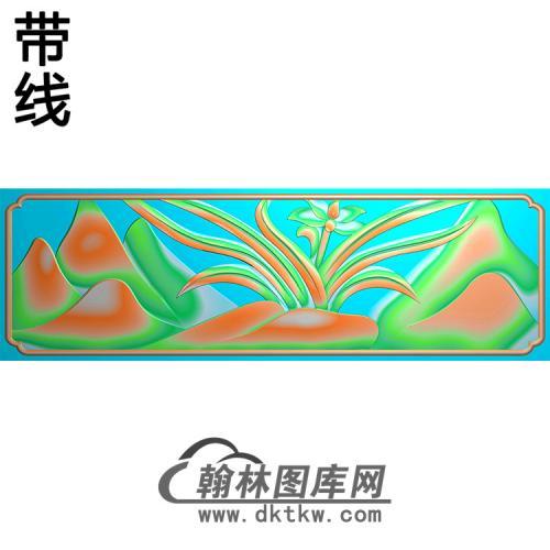 兰花碑板精雕图(MBBB-1884)