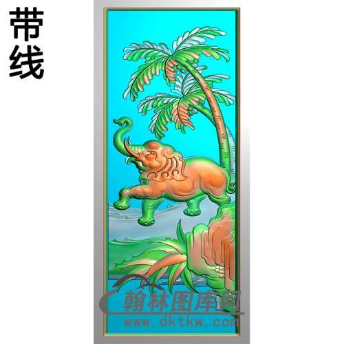 大象碑板精雕图(MBBB-2025)