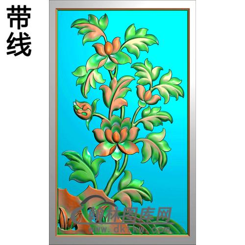 花草碑板精雕图(MBBB-2088)