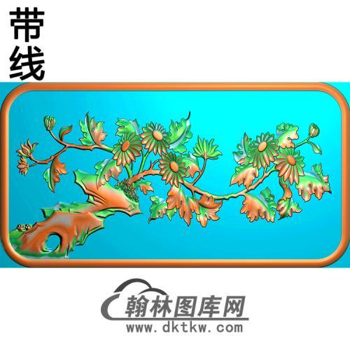 菊花碑板精雕图(MBBB-2152)
