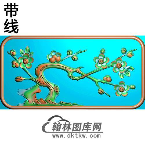 梅花碑板精雕图(MBBB-2155)