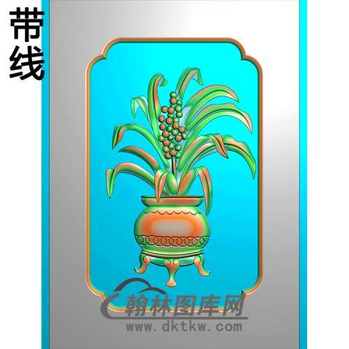 花瓶碑板精雕图(MBBB-2156)