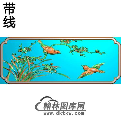 花鸟碑板精雕图 (MBBB-2190)