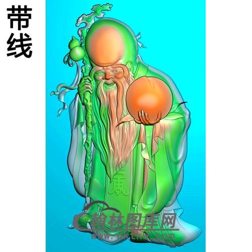 寿星碑板精雕图(MBBB-2202)