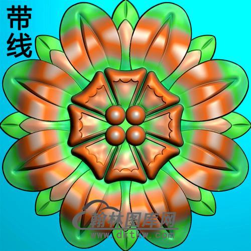 圆花碑板精雕图(MBBB-2204)