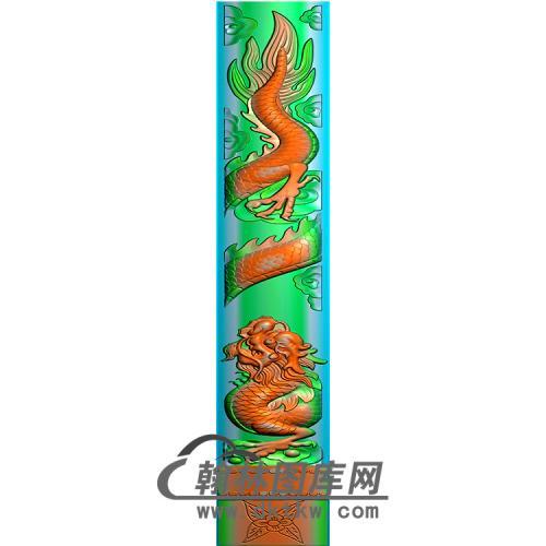 龙立柱精雕图(MBLZ-2298)
