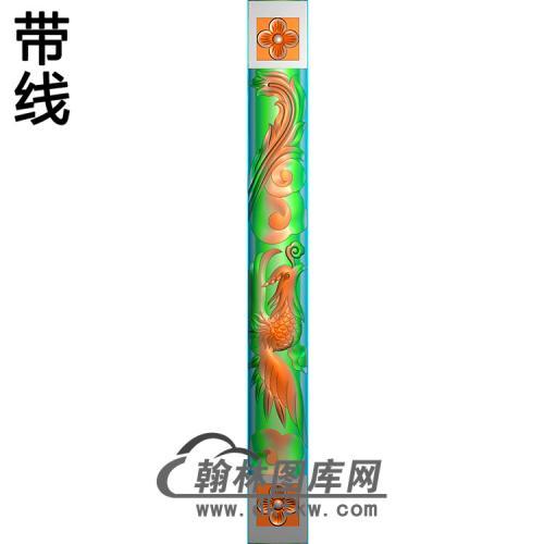 凤柱精雕图(MBLZ-2311)