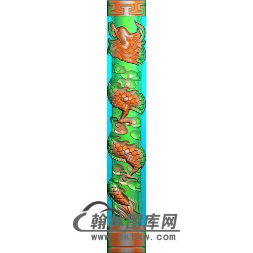 龙柱精雕图(MBLZ-2323)