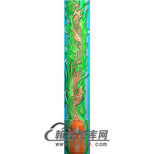 凤柱精雕图(MBLZ-2333)