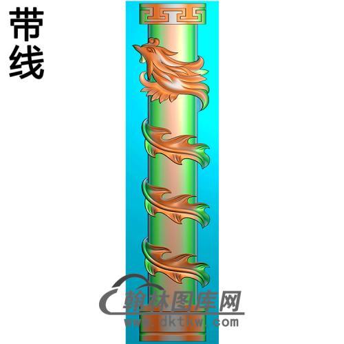 凤柱精雕图(MBLZ-2338)