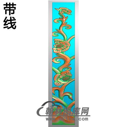 梅花立柱精雕图(MBLZ-2378)