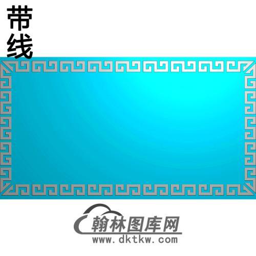 回纹立柱精雕图(MBLZ-2383)