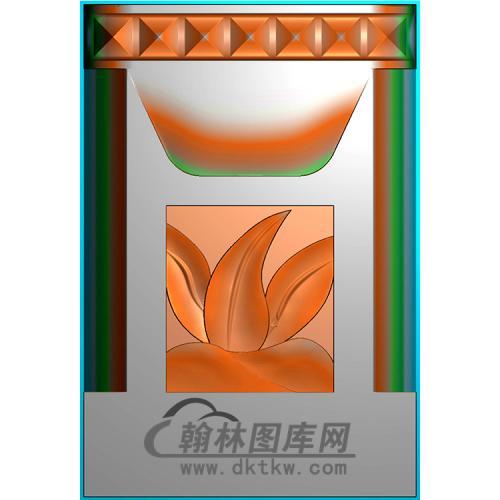 花草立柱精雕图(MBLZ-2384)