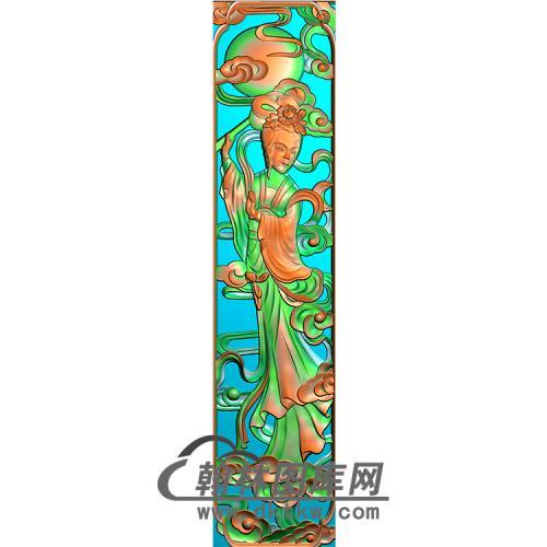 仙女立柱精雕图 (MBLZ-2385)