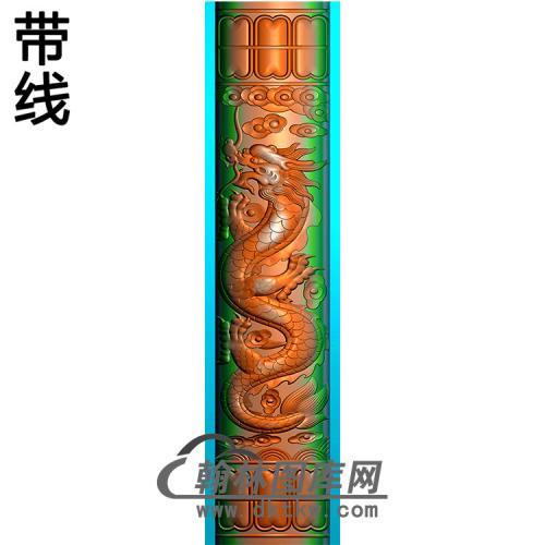龙柱立柱精雕图(MBLZ-2390)
