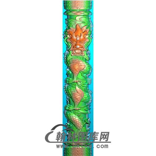 龙立柱精雕图(MBLZ-2394)
