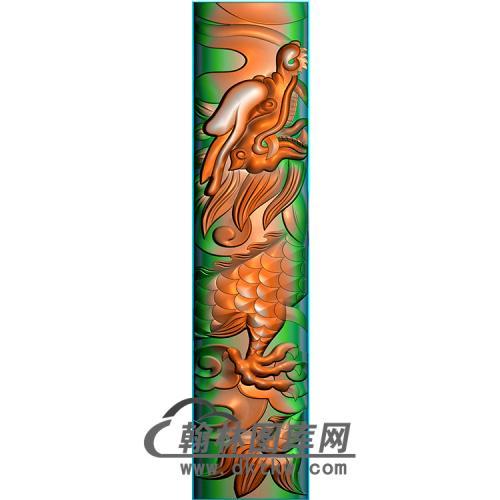 龙立柱精雕图(MBLZ-2395)