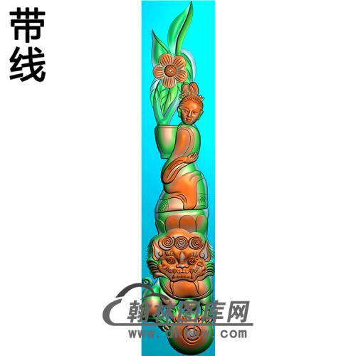 仙女立柱精雕图(MBLZ-2398)