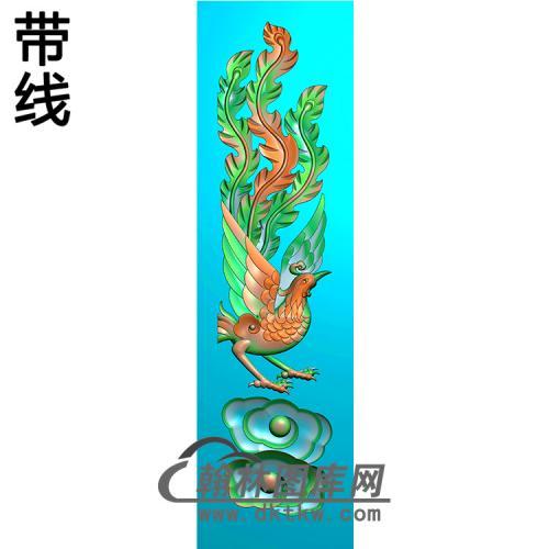凤 立柱精雕图(MBLZ-2401)