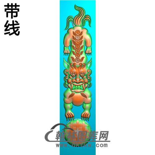 狮子立柱精雕图(MBLZ-2402)