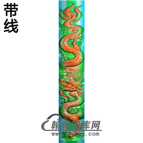 龙立柱精雕图(MBLZ-2403)
