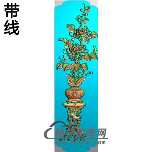 花瓶立柱精雕图(MBLZ-2406)