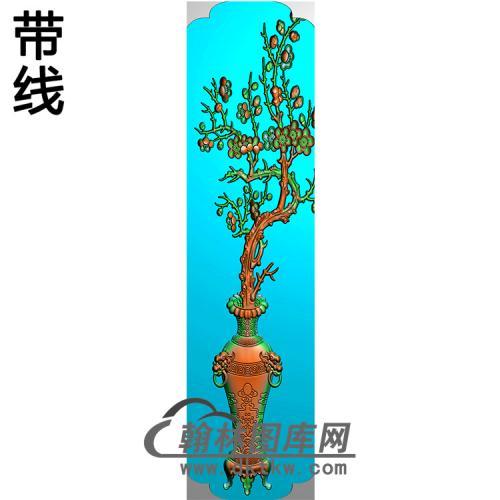 花瓶立柱精雕图(MBLZ-2408)