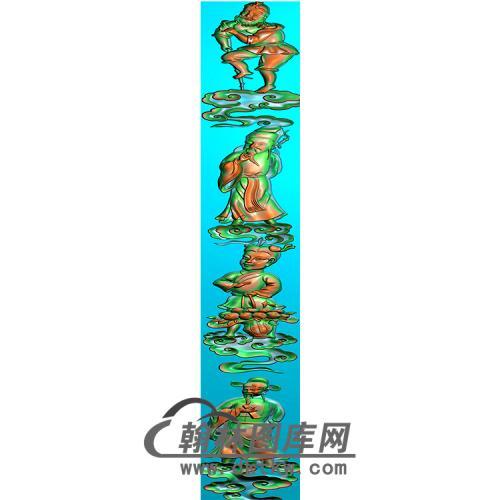 八仙立柱精雕图(MBLZ-2409)