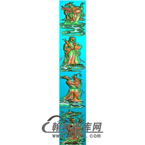 八仙立柱精雕图(MBLZ-2410)